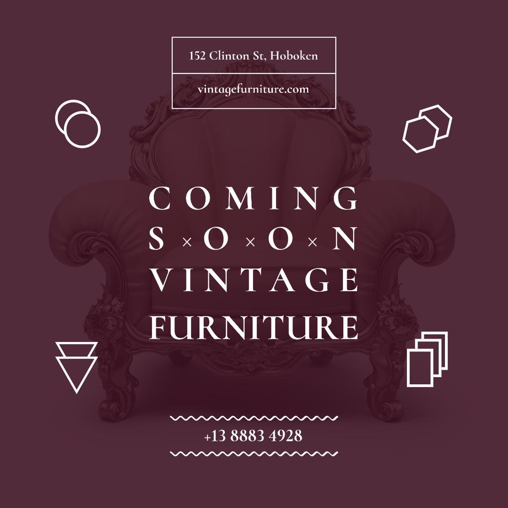 Vintage Furniture Shop Opening Instagram Modelo de Design