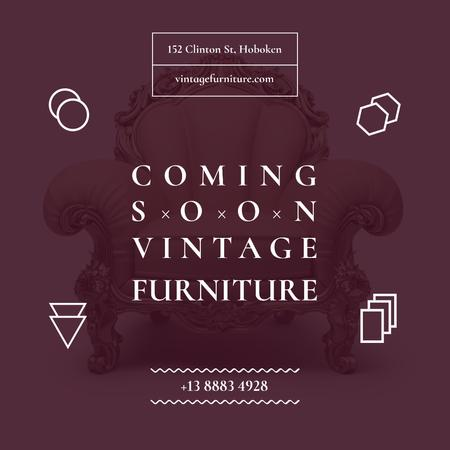 Vintage Furniture Shop Opening Instagramデザインテンプレート