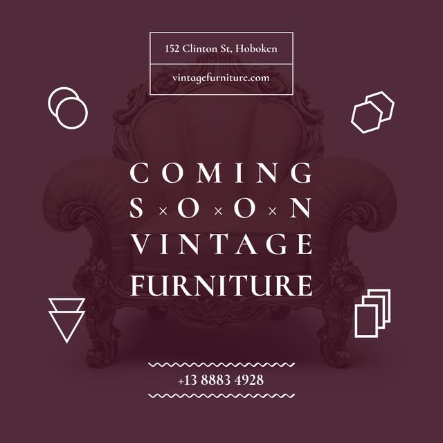 Vintage Furniture Shop Opening Instagram – шаблон для дизайну