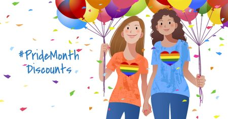 Pride Month Discounts Offer Facebook AD Modelo de Design