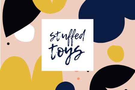 Template di design Stuffed Toys brand colorful ad Label