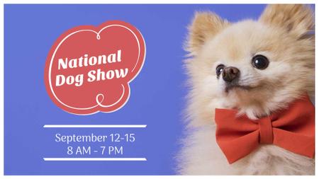 Dog Show announcement with cute Pet FB event cover Tasarım Şablonu