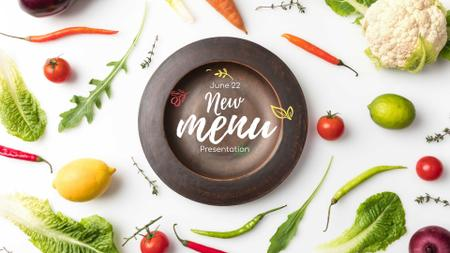 Meal with greens and Vegetables FB event cover Modelo de Design