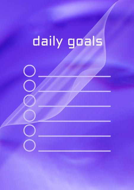 Daily Goals Planning Schedule Planner – шаблон для дизайна