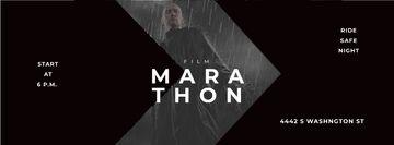 Film Ad with Man with Gun under Rain