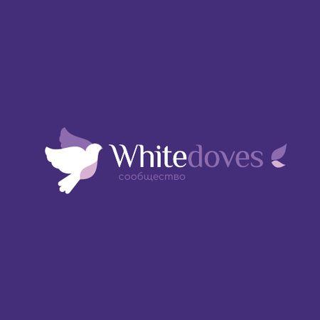 Religious Association with Flying Doves Birds Animated Logo – шаблон для дизайна