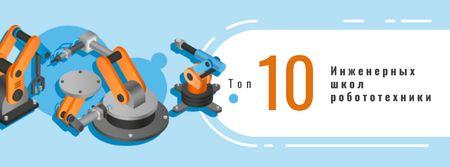 Modern robotics technology Facebook cover – шаблон для дизайна
