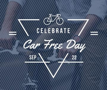 Man Cycling in City on Car Free Day
