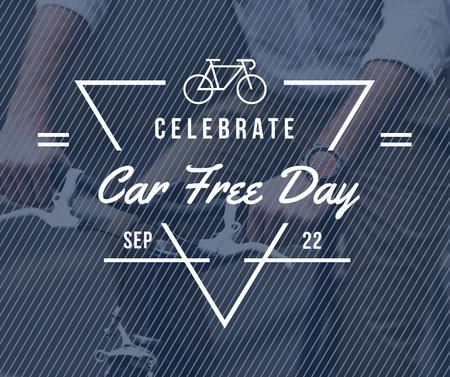 Modèle de visuel Man Cycling in City on Car Free Day - Facebook