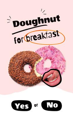 Designvorlage Yummy Bright Glazed Donuts für Instagram Story