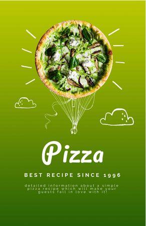 Modèle de visuel Cute Illustration of Delicious Pizza - Recipe Card