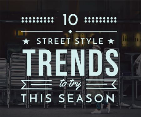 Plantilla de diseño de street style trends background Large Rectangle