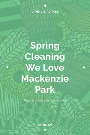 Spring cleaning in Mackenzie park Pinterestデザインテンプレート