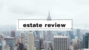 Real Estate review with City Skyscrapers