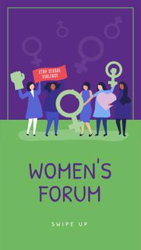 Diverse women portraits on forum