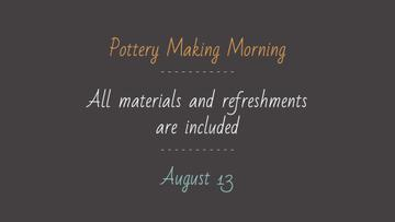 Pottery Making Workshop promotion