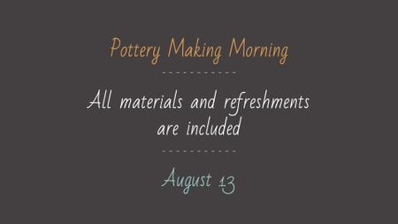 Modèle de visuel Pottery Making Workshop promotion - FB event cover