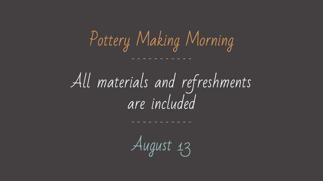 Pottery Making Workshop promotion FB event cover Modelo de Design