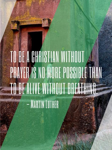 Christian Religion Quote on Church background Poster US Modelo de Design