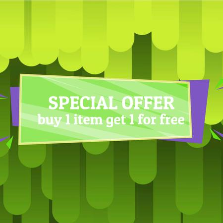Szablon projektu Special Offer Ad with Green moving lines Animated Post