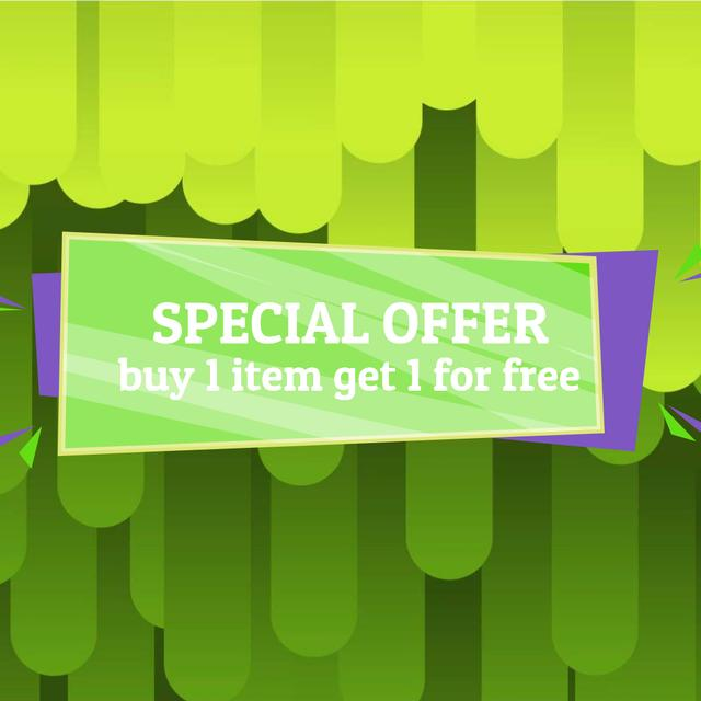 Special Offer Ad with Green moving lines Animated Post Design Template