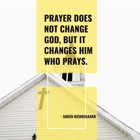 Plantilla de diseño de Religion citation about prayer Instagram