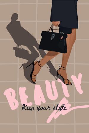 Plantilla de diseño de beauty Pinterest