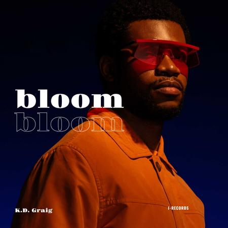 Man wearing Orange outfit and Sunglasses Album Coverデザインテンプレート