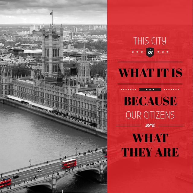 Szablon projektu City quote with London view Instagram AD