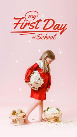 Plantilla de diseño de Back to School with Cute Little Girl Instagram Story