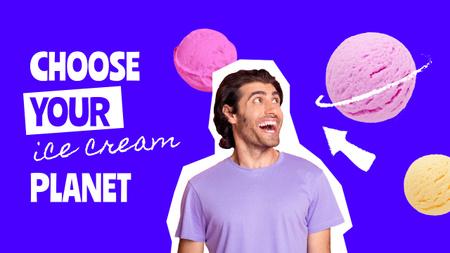 Modèle de visuel Funny Man and Colorful Ice Cream Balls - Youtube Thumbnail