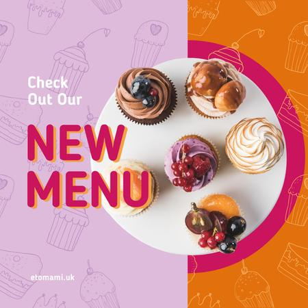Delicious cupcakes set Instagram Design Template