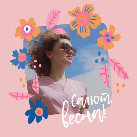 Stylish Girl in Spring Animated Post – шаблон для дизайна
