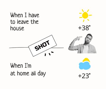 Funny Joke about Summer Heat Facebook Design Template