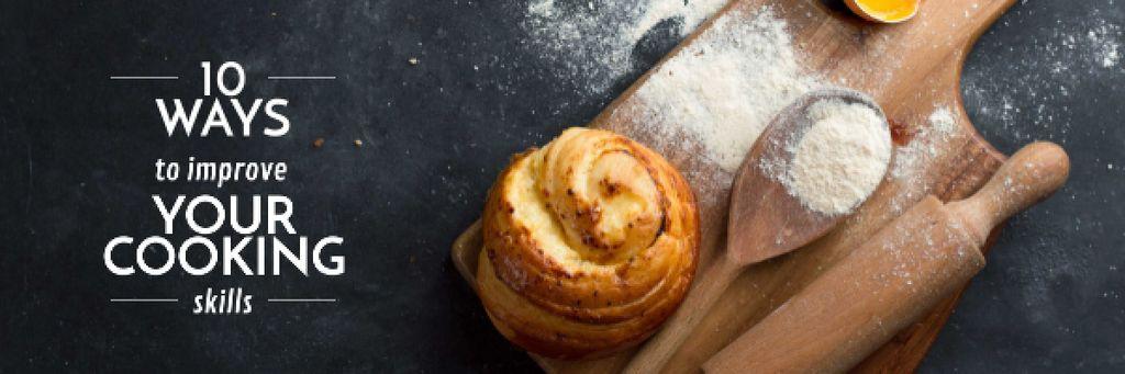 Improving Cooking Skills with freshly baked bun Email header – шаблон для дизайна