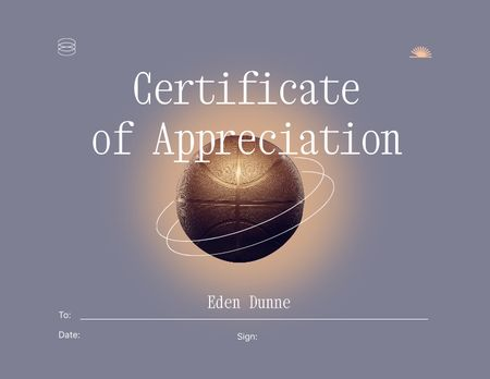 Award of Appreciation on Basketball Achievement Certificate Design Template