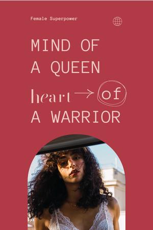 Plantilla de diseño de Inspirational Quote with Beautiful Young Woman Pinterest