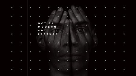Creative Portrait of Young Man FB event cover – шаблон для дизайну