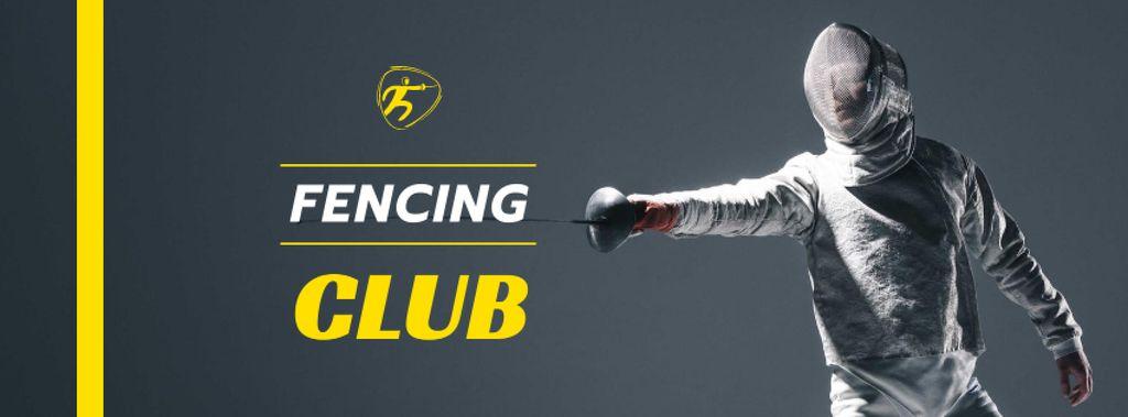 Fencing Club Ad with Fencer — Создать дизайн