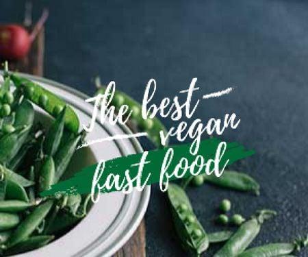 Modèle de visuel The best vegan fast food with peas poster - Medium Rectangle