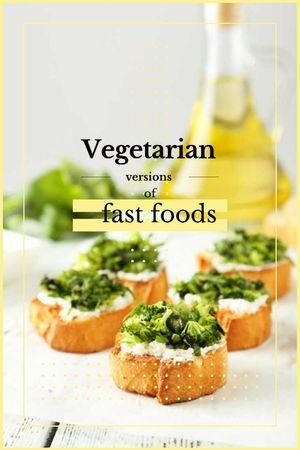 Modèle de visuel Vegetarian Food Recipes Bread with Broccoli - Tumblr
