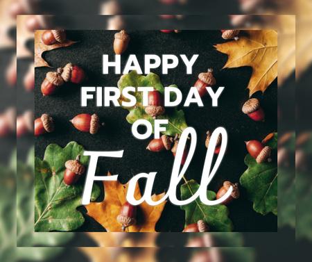 First Day of Fall Announcement Facebook Modelo de Design