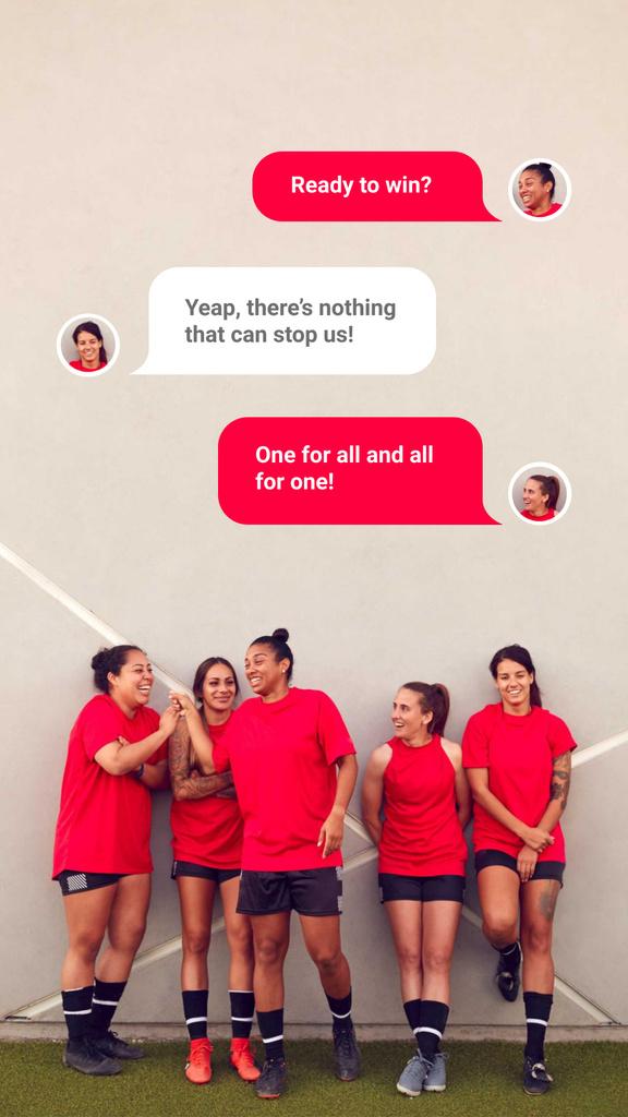 Successful Girls' Football team — Modelo de projeto