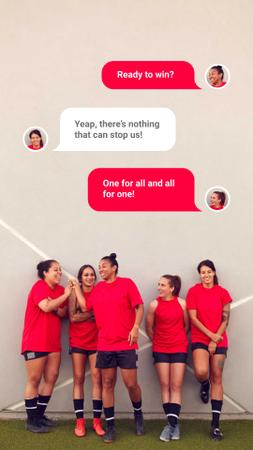 Template di design Successful Girls' Football team Instagram Story