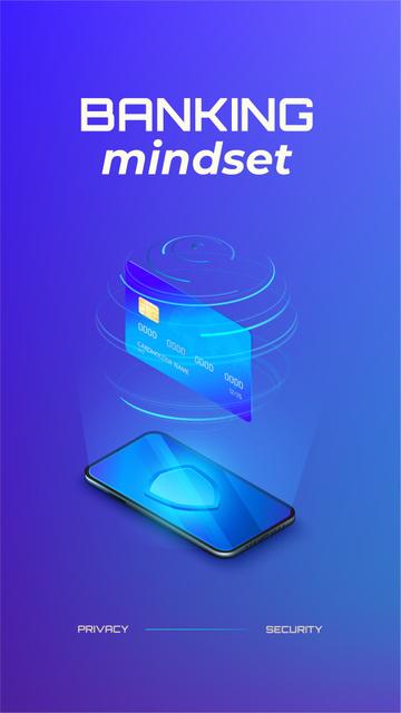 Banking Services on Phone screen Instagram Story Modelo de Design