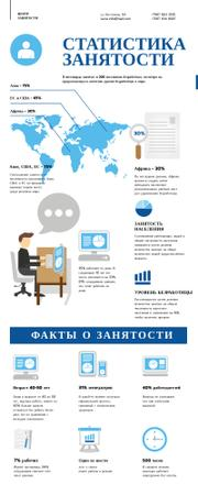 Statistical infographics about Employment Infographic – шаблон для дизайна