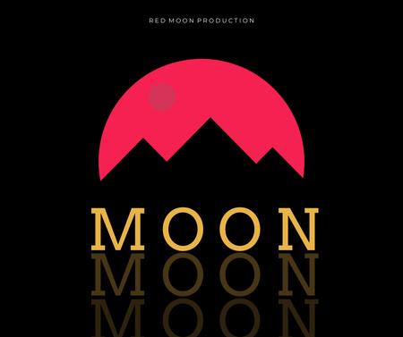 Music Album Promotion with Mountains Silhouette Facebook Modelo de Design
