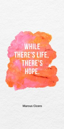 Inspirational Quote with Bright Watercolor Blots Graphic – шаблон для дизайну