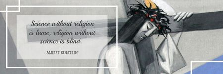 Citation about science and religion Email header Modelo de Design