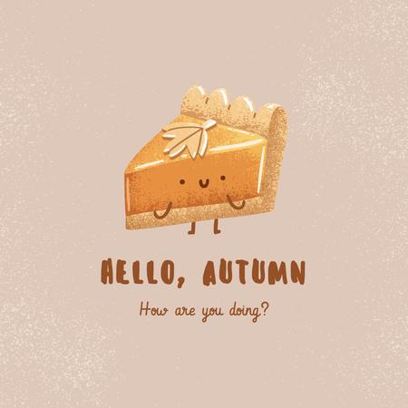 Autumn Inspiration with Cute Piece of Cake Instagram – шаблон для дизайну